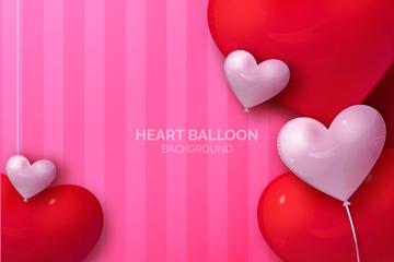 创意爱心气球矢量素材