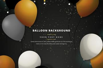 精美气球和彩色亮片矢量素材