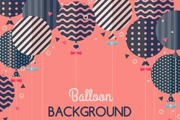 扁平化黑色花纹气球矢量素材