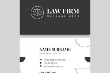 时尚黑色律师名片设计矢量素材