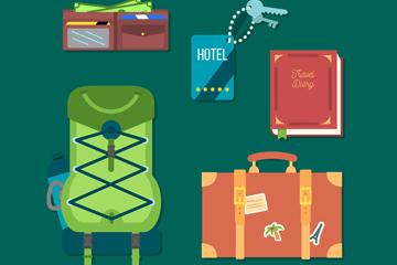5款精致旅行物品设计矢量素材