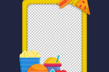 创意食物装饰框架矢量素材