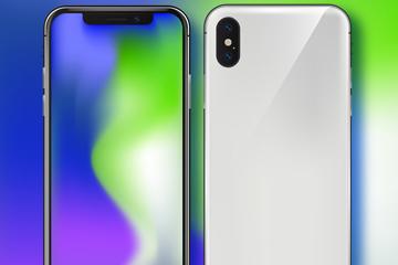 精美苹果手机正反面矢量素材