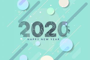 2020年新年��g字矢量素材