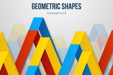 彩色抽象三角背景矢量素材