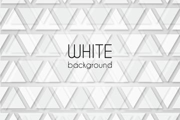 白色三角形无缝背景矢量素材