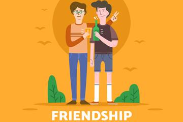 创意国际友谊日男子矢量素材