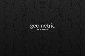 创意几何形花纹金属背景矢量图