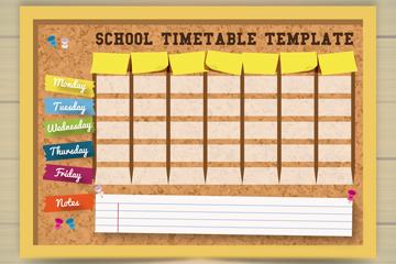 创意空白校园课程表矢量素材