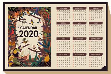 2020年��意�B�年�v矢量素材