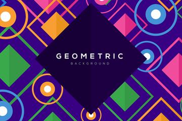 彩色菱形和圆形背景矢量素材