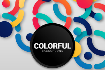 彩色圆环背景设计矢量素材