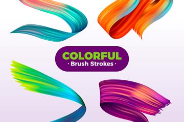 4款彩色�P�|�O�矢量素材