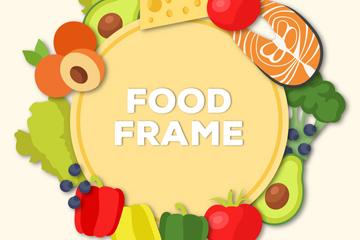 创意食物框架设计矢量素材