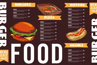 创意快餐店菜单设计矢量素材