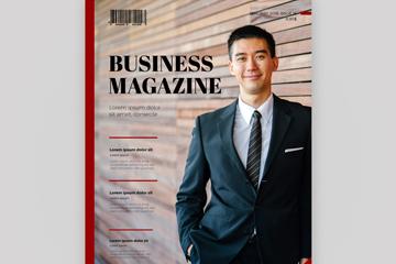创意商务男子杂志封面矢量素材
