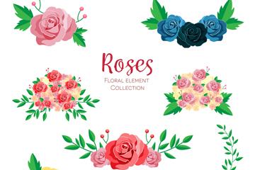 7�M美��玫瑰花�O�矢量素材