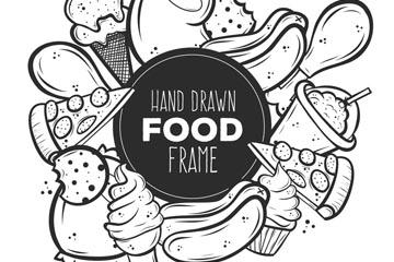 手绘快餐框架设计矢量素材