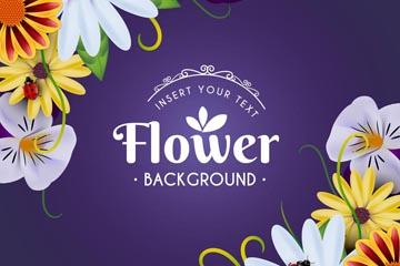 精美花卉和瓢�x矢量素材