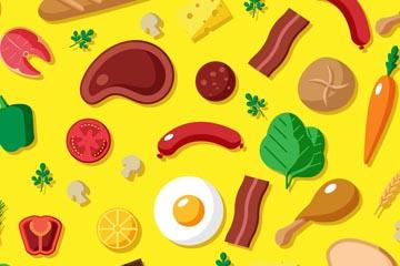 彩色食物�o�p背景矢量素材