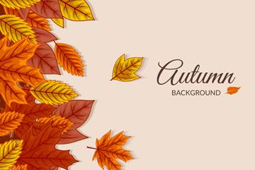 彩色秋季落�~矢量素材
