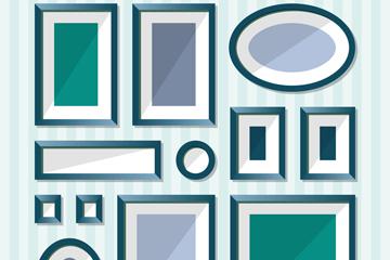12款绿色相框设计矢量素材