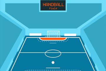 创意手球球场设计矢量素材