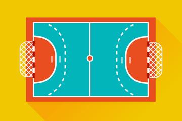 创意手球场地设计矢量图