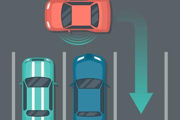 创意停车俯视图矢量素材