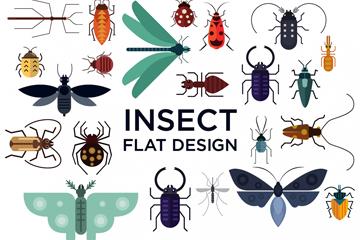 22款创意昆虫设计矢量素材