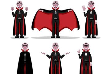 6款创意吸血鬼设计矢量素材