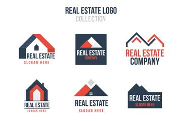 9款拼色房地产标志矢量素材