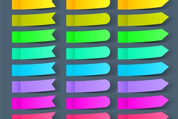 24款彩色便利贴矢量素材