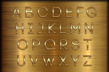 40款金色字母和数字矢量素材
