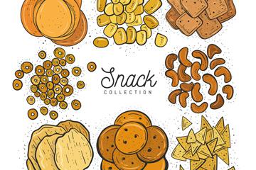 8组美味零食设计矢量素材