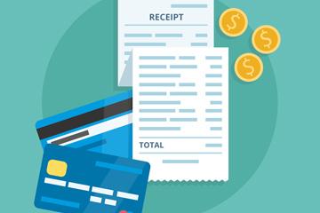 创意信用卡和收据矢量素材