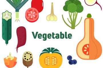 13款��意蔬菜�O�矢量素材