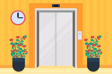 创意电梯设计矢量素材