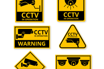 6款创意监控标识设计矢量素材