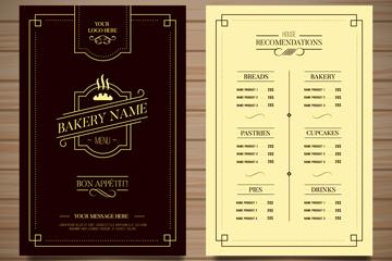 古典餐馆菜单设计矢量素材