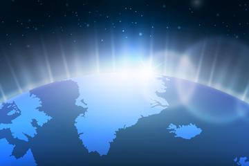 创意太空中的地球矢量素材