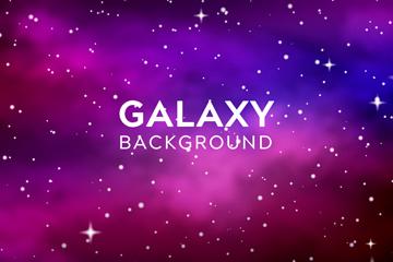 紫色梦幻银河系风景矢量素材