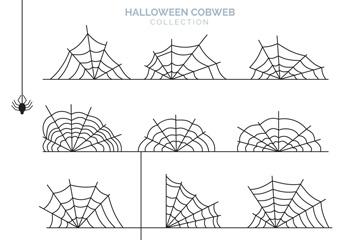 12款创意万圣节蜘蛛网矢量素材