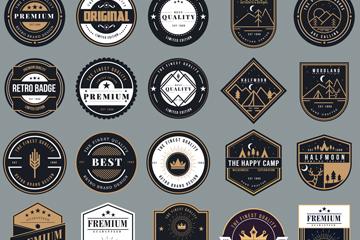 25款复古标签设计矢量素材