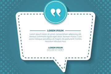 创意质感蓝色语言气泡矢量素材