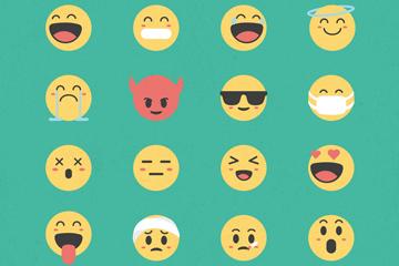 20款圆脸表情设计矢量素材