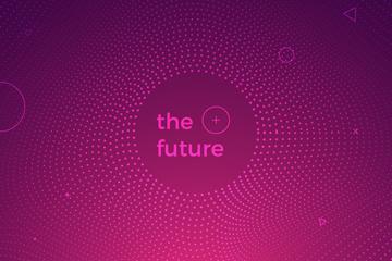 创意未来背景矢量素材