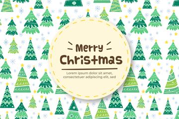 创意圣诞树无缝背景矢量素材