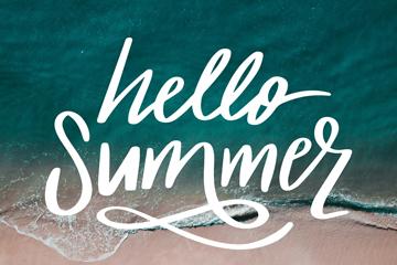 创意大海夏季艺术字矢量素材