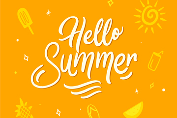 创意黄色夏季艺术字矢量素材
